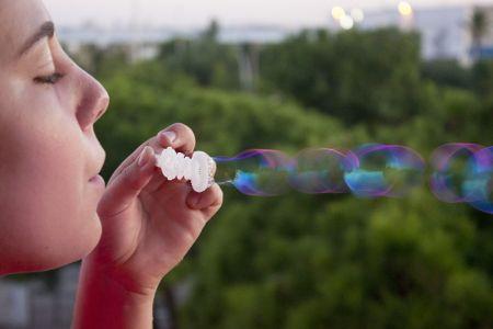 Burbujas al viento