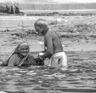 Purificación en el Ganges.